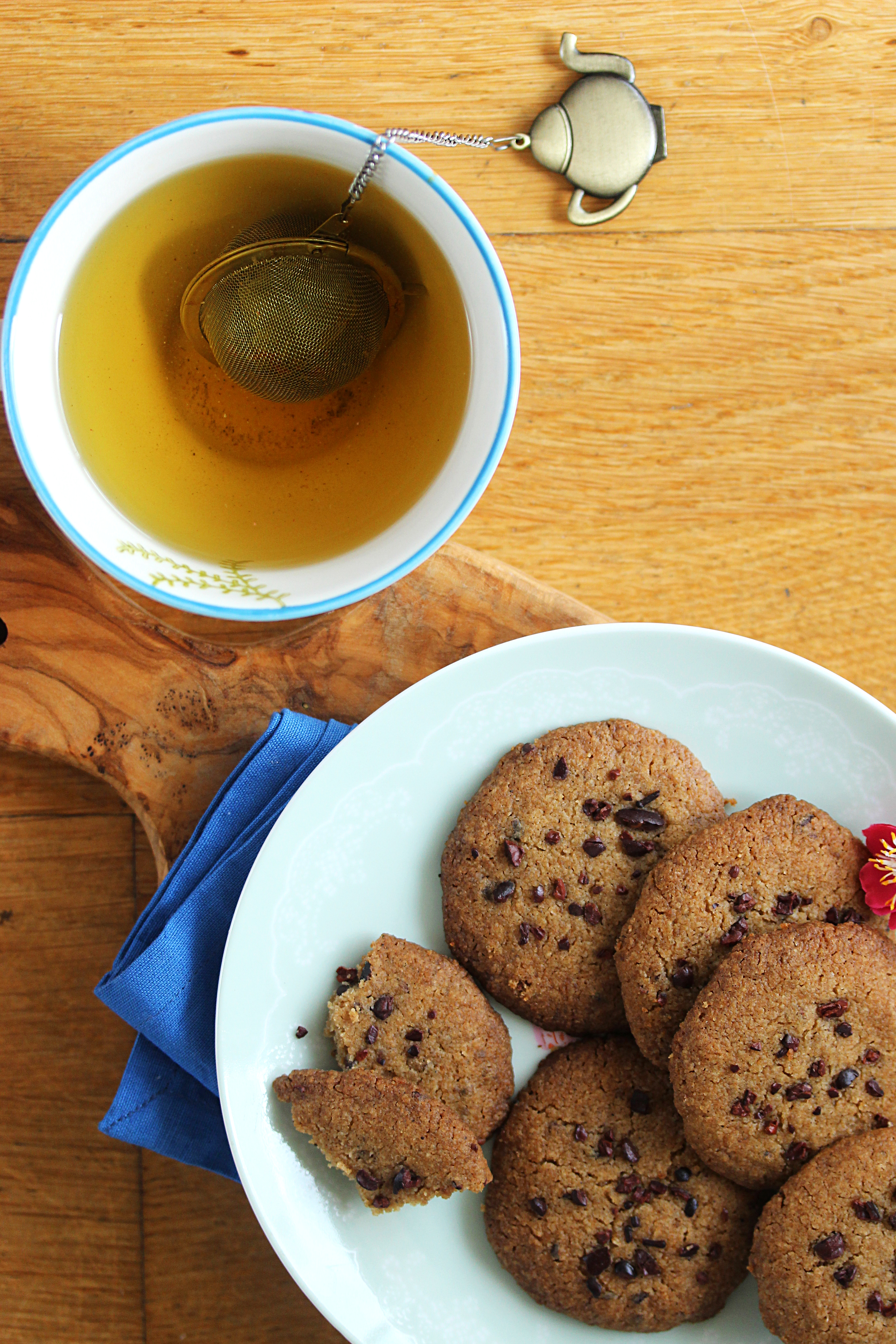 Biscuits sablés aux pépites de fèves de cacao2
