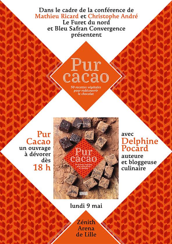 PUR CACAO Bleu Safran Convergences soirée Zénith Lille  avec matthieu Ricard et Christophe André
