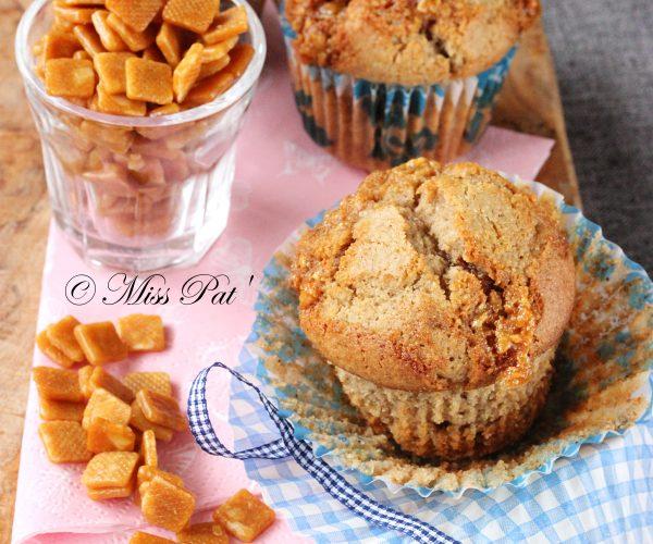 Muffins aux éclats de nougatine (sans gluten, sans lait)