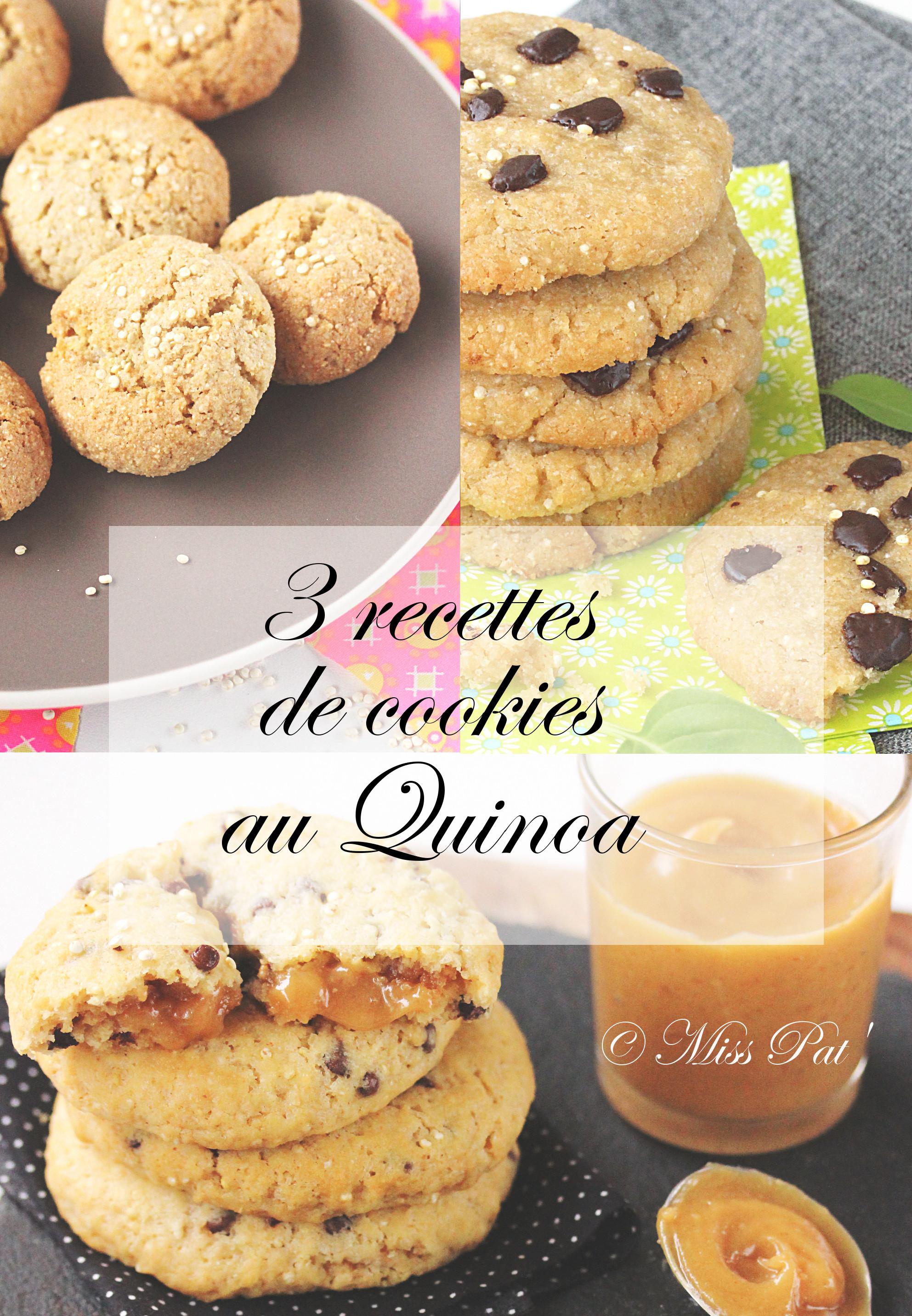 3 recettes cookies quinoa