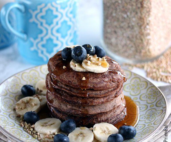 Pancakes cacao et sarrasin, au sirop d'érable