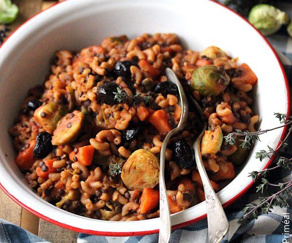 One Pot Pasta, lentilles et coquillettes aux légumes