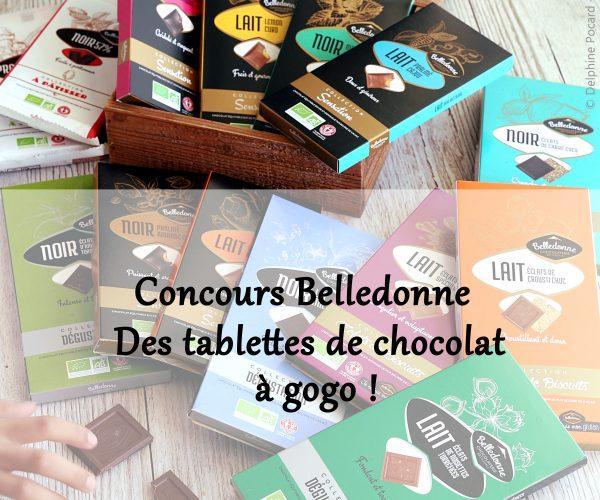 Concours : remportez un beau lot de tablettes de chocolat bio !