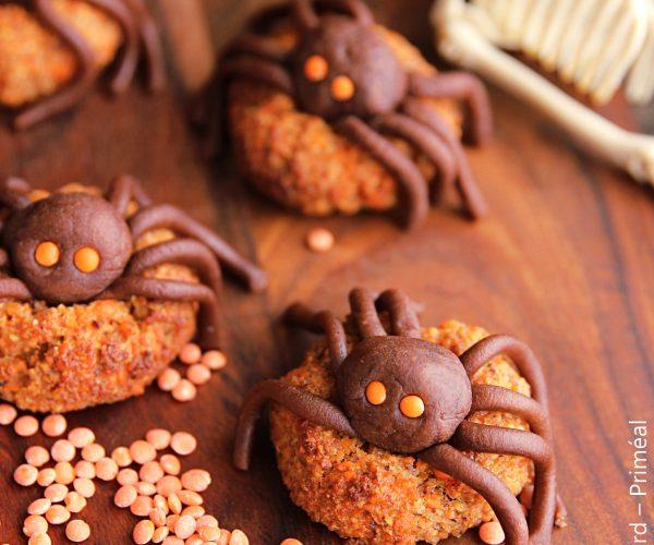 Biscuits Halloween aux lentilles corail et pâte d'amandes