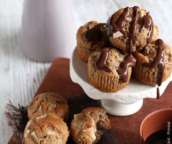 Petits moelleux châtaigne, sauce mélasse au chocolat