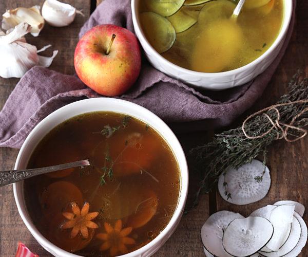 Les bouillons, des soupes santé si réconfortantes !