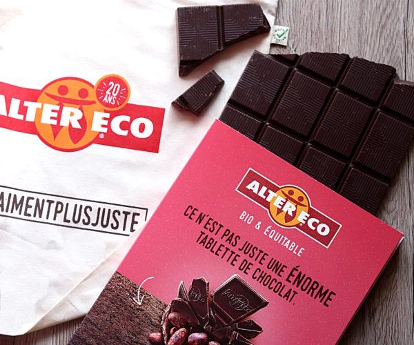 Concours : 1 tablette de 1 kg de chocolat Alter Eco + un tote bag à remporter !