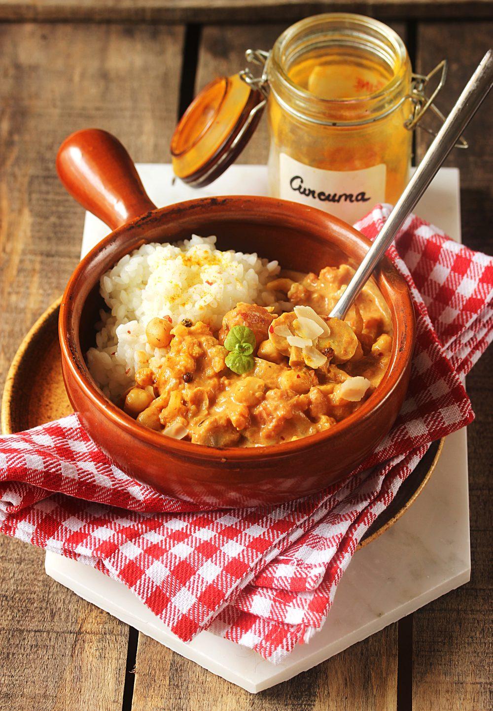Curry végétarien de chou-fleur et pois-chiches